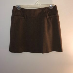 Brown Twill Skirt From The Limited